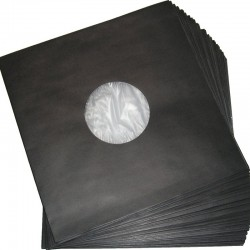 12''/LP Poly-Lined Record Inner Sleeve / Gefütterte Innenhülle (black)