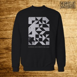 SUFFOCATE FOR FUCK SAKE - Blazing Fires CREWNECK (Black)